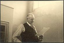 Paul Humburg aus Barmen, er war Präses der Rheinischen Bekenntnissynode