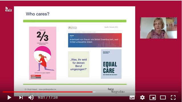 Screenshot aus der Videokonferenz mit Dr. Birgit Happel