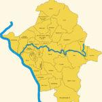 Landkarte der Gemeinden an Sieg und Rhein