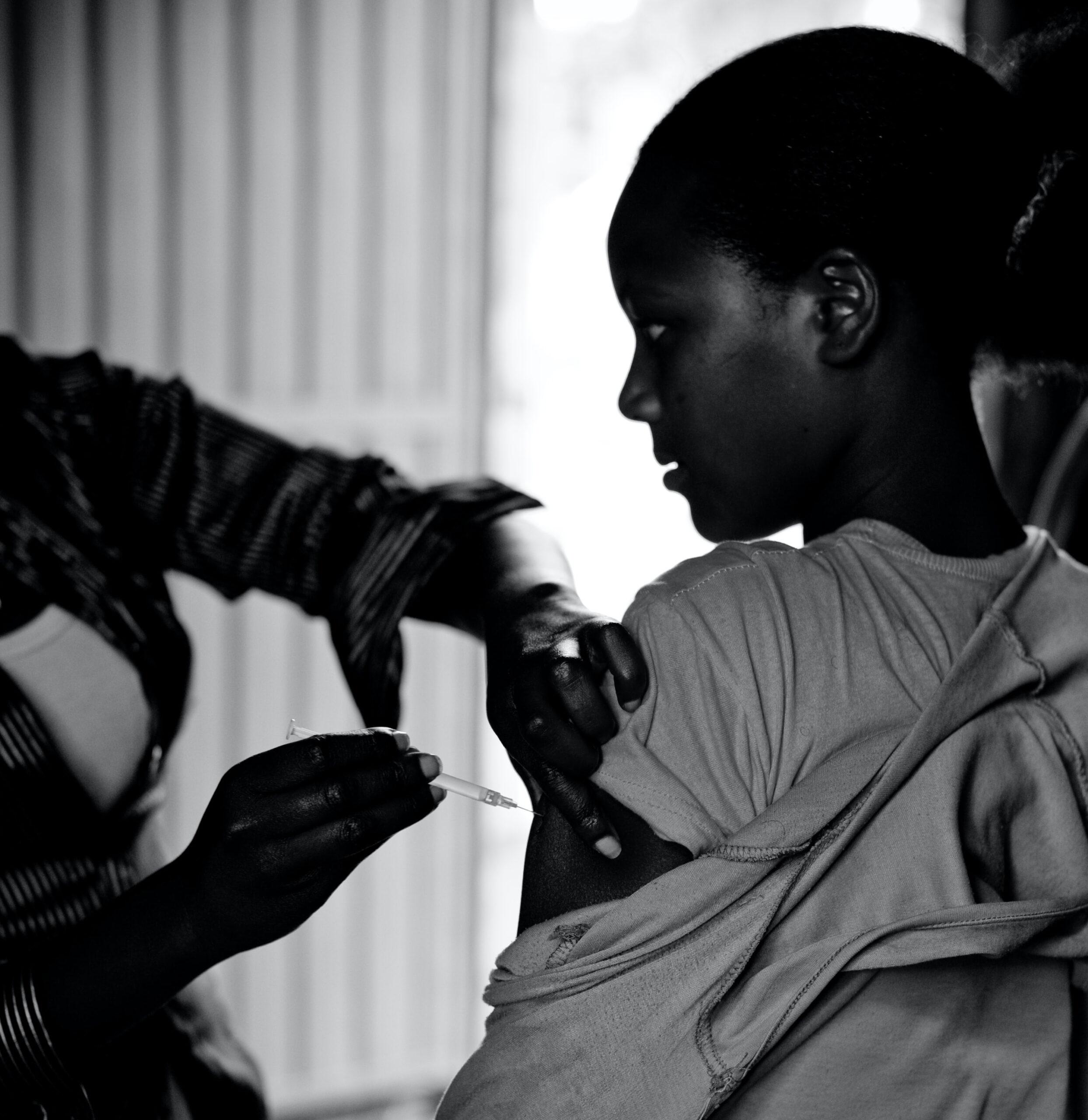 Impfung in einem Krankenhaus in Äthiopien